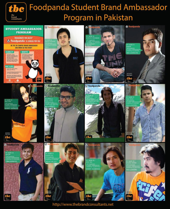 foodpanda Student Brand Ambassador Program in Pakistan